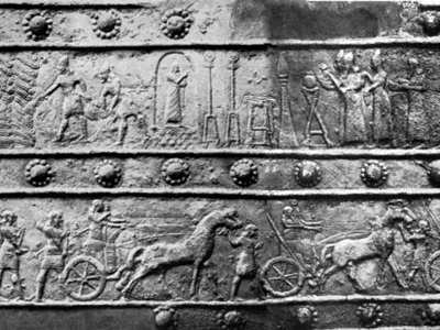 Ассирийский барельеф времён Салманасара III