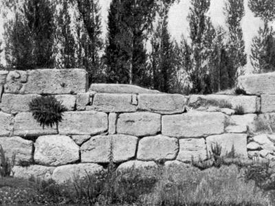 Остатки крепости, построенной Сардури I