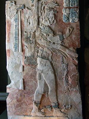 Штуковый барельеф в музее Паленке