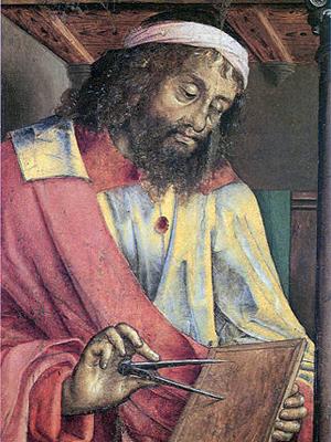 Йос ван Вассенхове (Юстус из Гента). Евклид, ок. 1474. Урбино