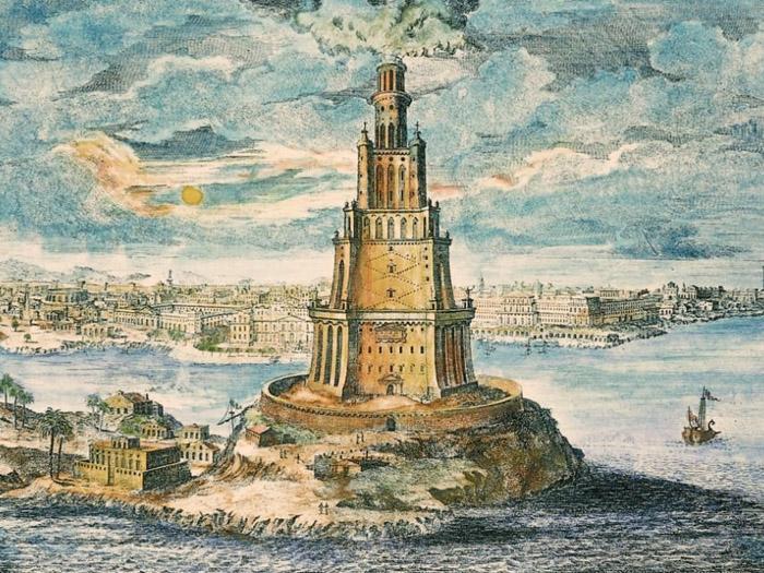 Картинки о александрийском маяке
