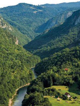 Каньон реки Тары самый глубокий в Европе (1300 м)