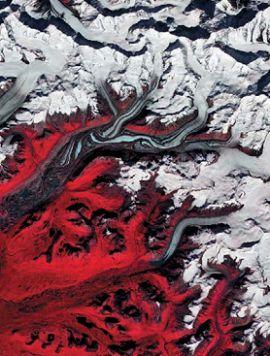 Ледник Суситна на Аляске