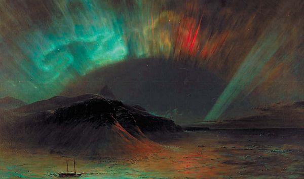 Полярное сияние на картине Фредерика Чёрча