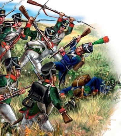 Русские пехотинцы под Салтановкой