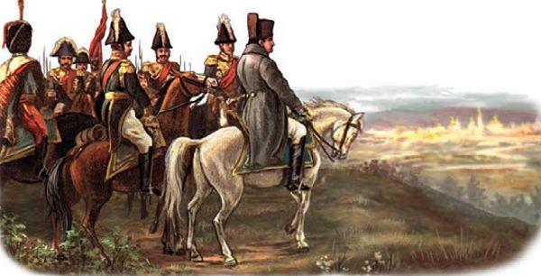 Наполеон у Москвы