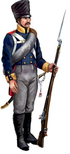Пехотинец прусской армии 1813 г.