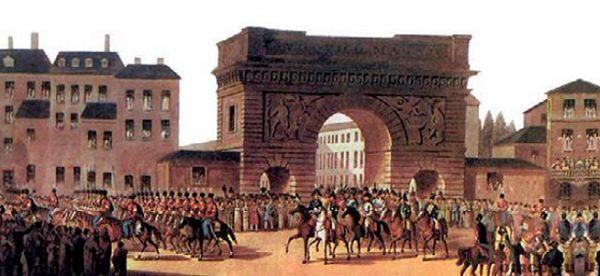 Союзная армия входит в Париж в 1814 г.