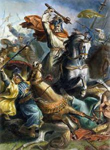Карл Мартелл в битве при Пуатье