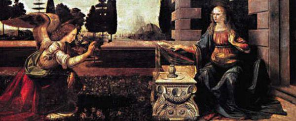 Леонардо да Винчи БЛАГОВЕЩЕНИЕ