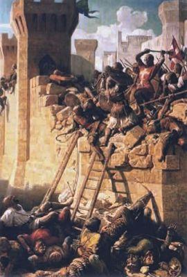 Великий магистр госпитальеров Гийом де Вилларе защищает Акру