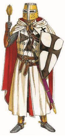 Тевтонский рыцарь в полном облачении