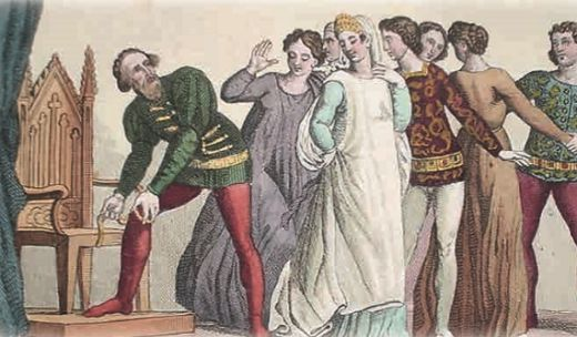 легенда об учреждении ордена Подвязки королём Англии Эдуардом III