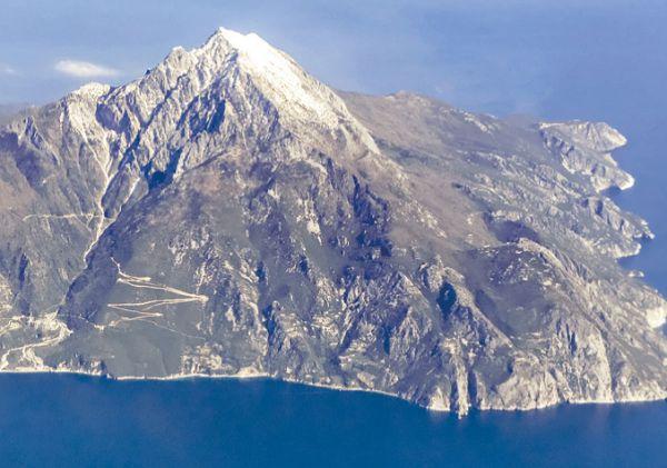 Гора Афон, полуостров Халкидики, северо-восточная часть Греции