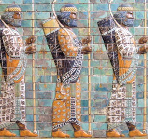 Персидские воины из отряда «Бессмертных»