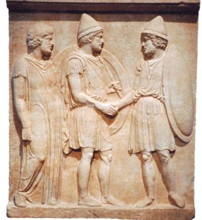 Возвращение гоплита из похода, IV в. до н. э.