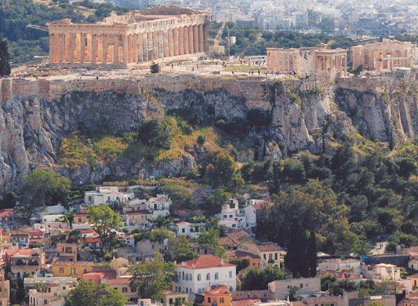 Афинский Акрополь и панорама Аттики