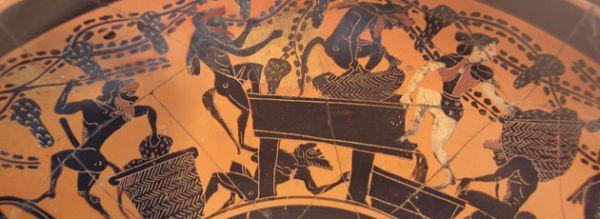 Роспись аттического чернофигурного кубка