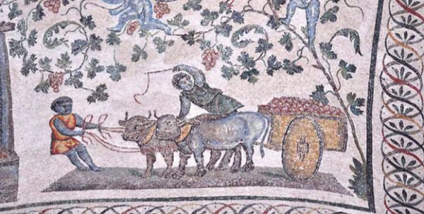 Мозаика, начало IV в. Храм Святой Констанции, Рим