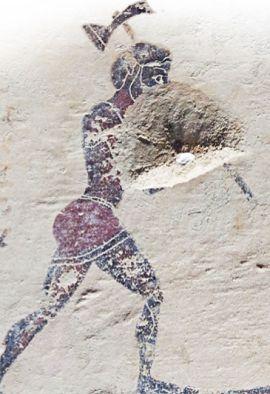 Рудные работы. Коринфский чернофигурный пинакс, 575–550 гг. до н. э. Лувр