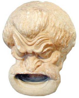 Рельеф с изображением маски, III в. до н. э. Национальный археологический музей, Афины