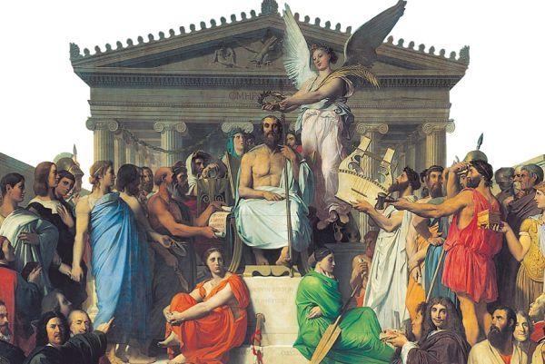 Апофеоз Гомера. Ж. О. Д. Энгра, 1827 г.