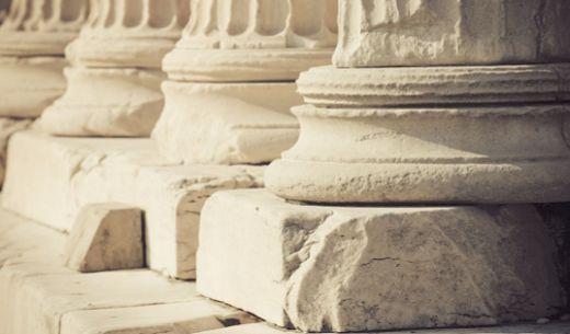 Основание колонн дорического храма