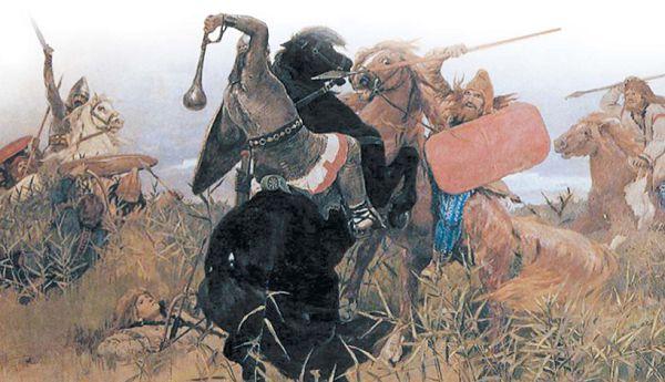 Бой скифов со славянами
