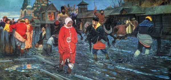 МОСКОВСКАЯ УЛИЦА XVII ВЕКА В ПРАЗДНИЧНЫЙ ДЕНЬ
