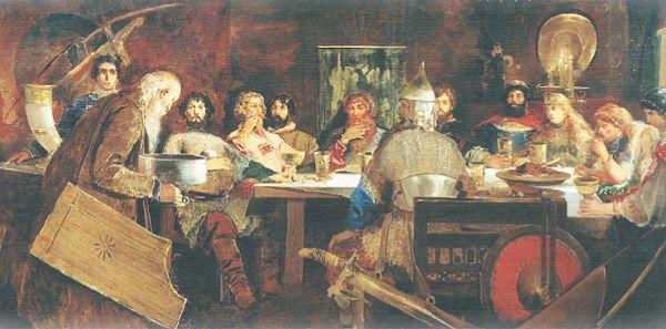 Пир богатырей у ласкового князя Владимира
