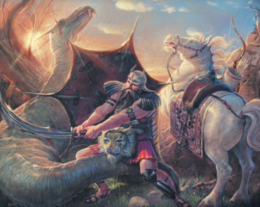 Рустам умерщвляет дракона