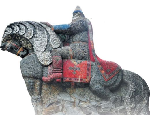 Скульптура Святогора. Парк каменных фигур, Дружковка (Украина)