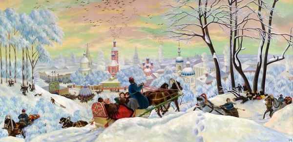 Б.М. Кустодиев МАСЛЕНИЦА