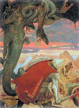 Бой Добрыни Никитича со Змеем Горынычем