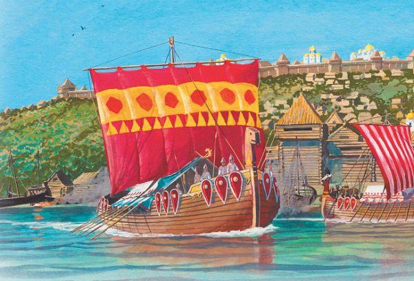 Такими могли быть славянские ладьи, на которых путешествовал по морю Садко
