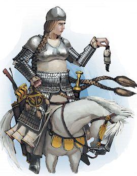 Женщина-богатырь Настасья Микулишна