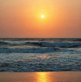 Закат над Аравийским морем Индийского океана