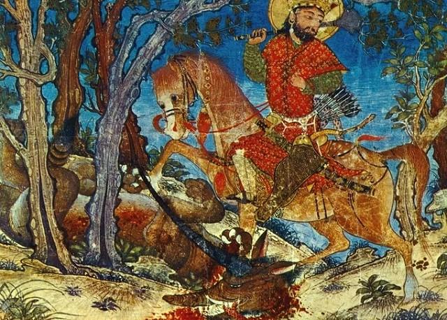 Иллюстрация к поэме Фирдоуси «Шахнаме»