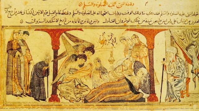 Миниатюра «Рождение пророка Мухаммеда» (неизв. худ. нач. XIV в.)