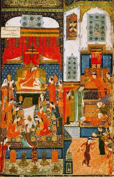 Джунейд. Миниатюра к поэме персидского поэта Хаджу Кермани «Хомай и Хомаюн»