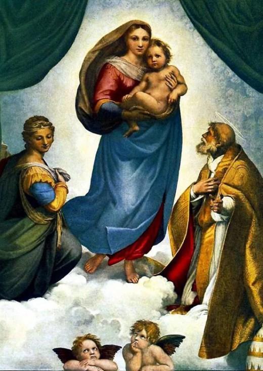Рафаэль Санти «Сикстинская мадонна»(1513) Истинно божественным творением называли эту картину…