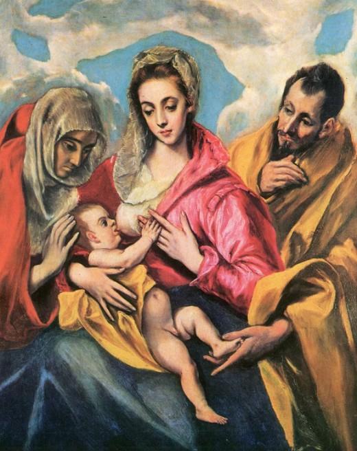 Эль Греко «Святое семейство»