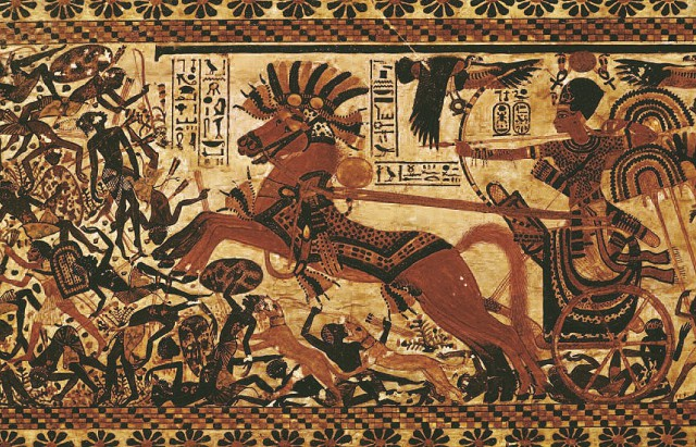 Тутанхамон на боевой колеснице
