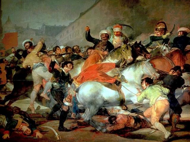 Франсиско Гойя «Восстание 2 мая 1808 года в Мадриде»