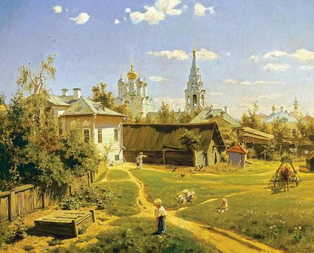 Василий Поленов «Московский дворик»