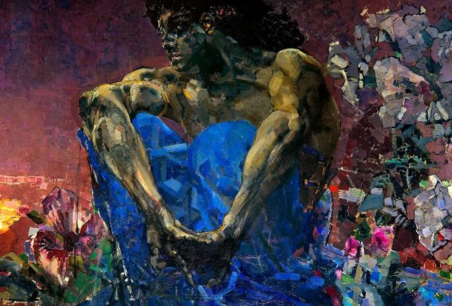 Михаил Врубель «Демон сидящий»