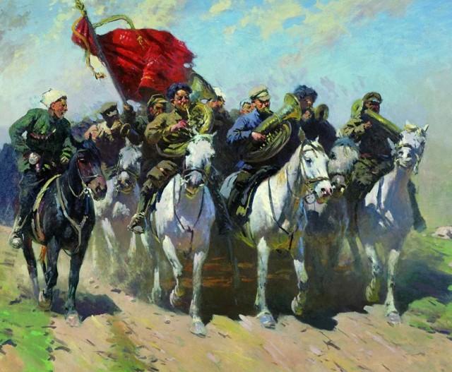 Митрофан Греков «Трубачи Первой конной»