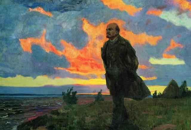 Аркадий Рылов «Ленин в Разливе в 1917 году» (1934)