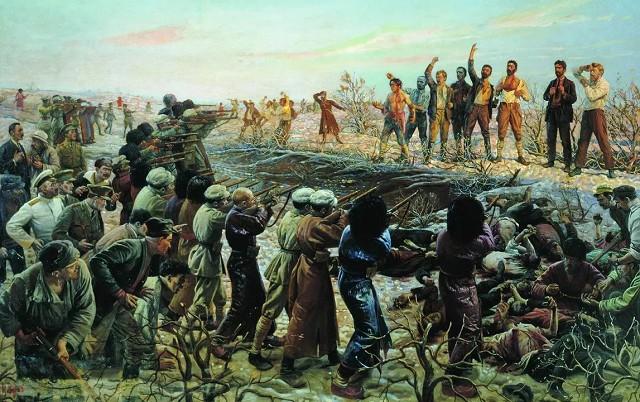 Исаак Бродский «Расстрел 26 бакинских комиссаров»