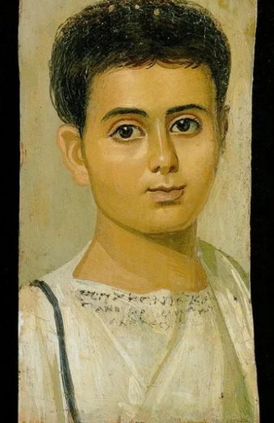 Фаюмский портрет мальчика по имени Евтихий (II в.)